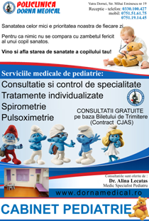 Pediatrie Vatra Dornei Dorna Medical